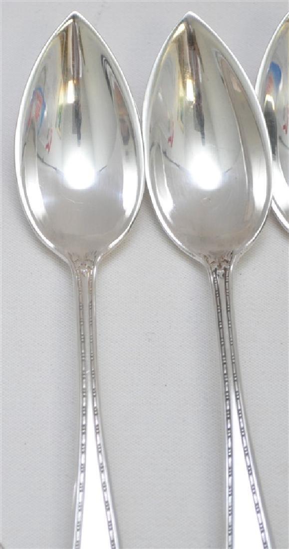 6 STERLING SILVER FRUIT / ORANGE SPOONS - 6