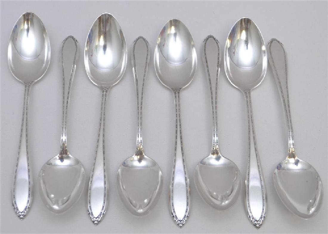 8 STERLING SILVER TEASPOONS - LADY BETTY