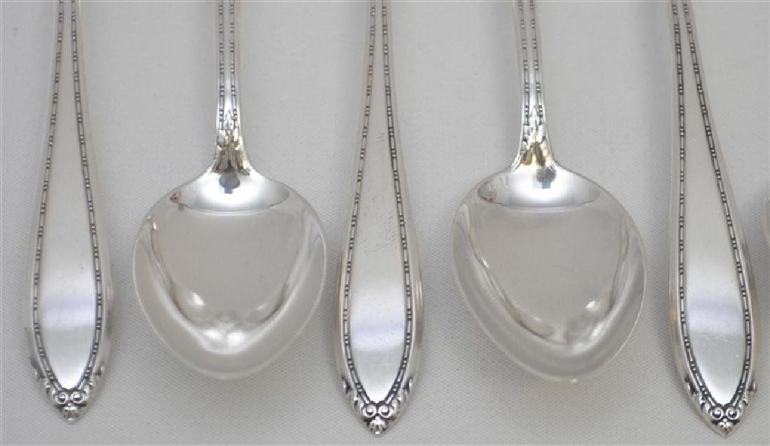 8 STERLING SILVER TEASPOONS - LADY BETTY - 3
