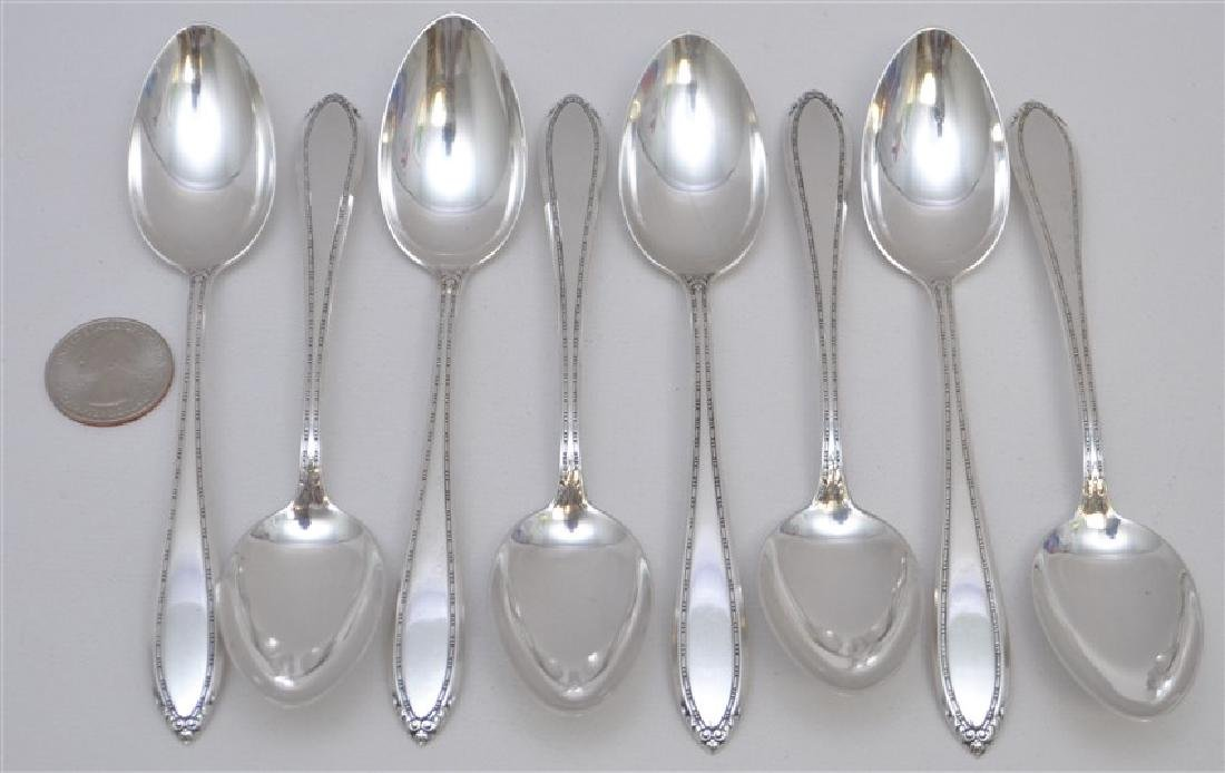 8 STERLING SILVER TEASPOONS - LADY BETTY - 5