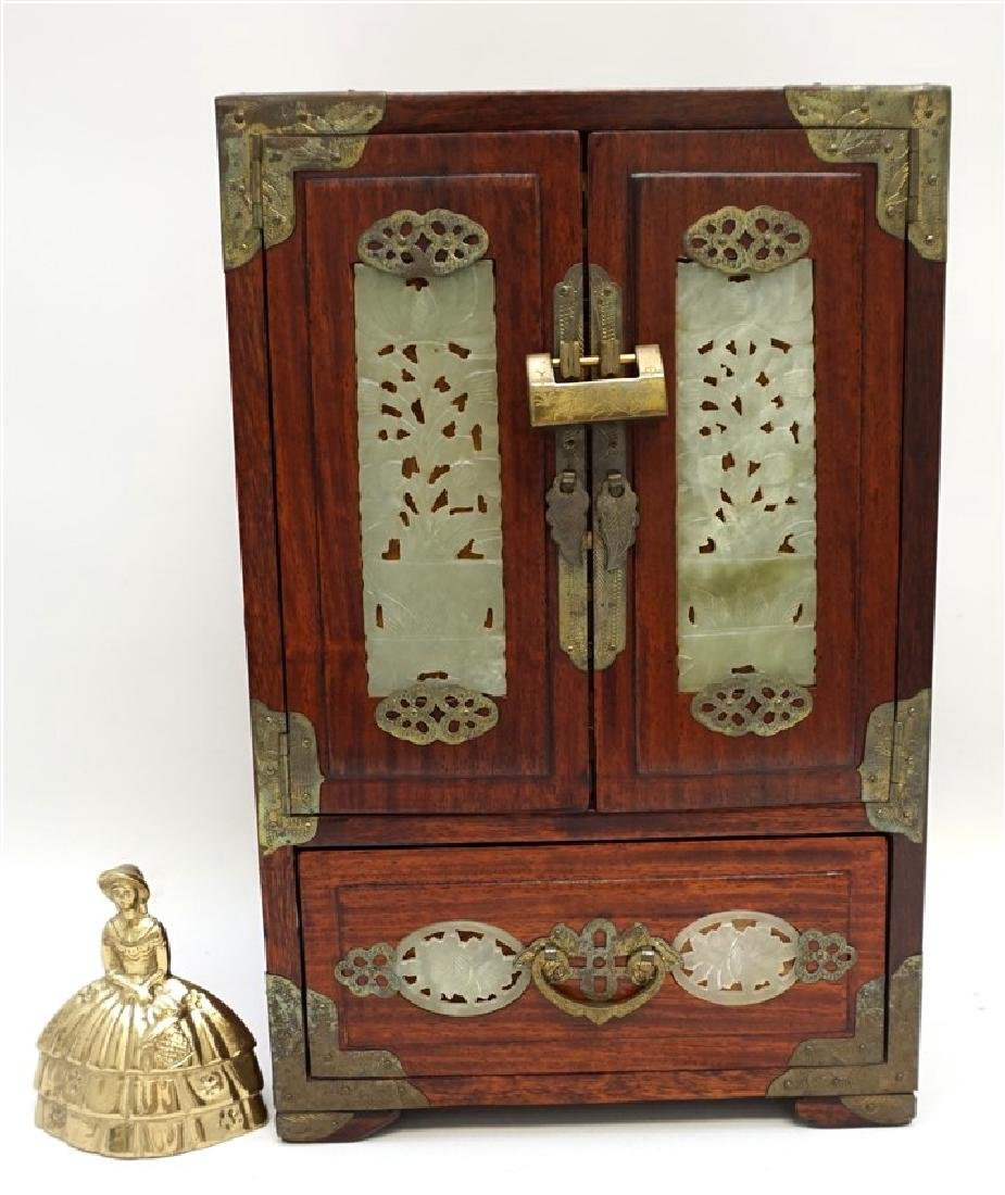 CHINESE INLAID JADEITE JEWELRY CHEST - 10