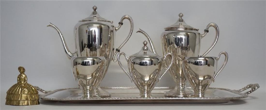 6 pc AMERICAN TEA & COFFEE SERVICE - 6