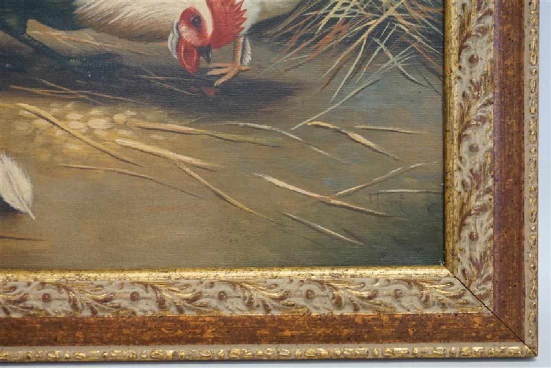 EDGAR HUNT (1876-1955) BARNYARD CHICKENS - 6
