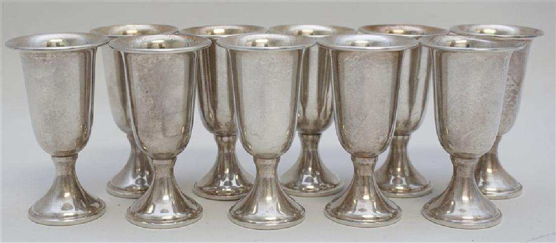 10 STERLING SILVER CORDIALS - EMPRESS