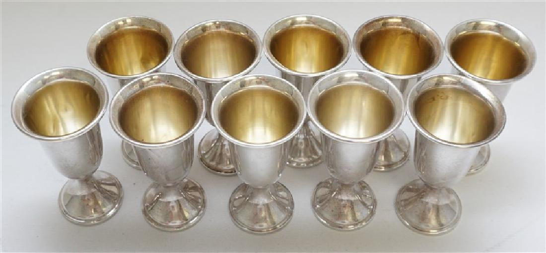 10 STERLING SILVER CORDIALS - EMPRESS - 2