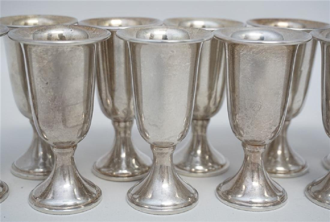 10 STERLING SILVER CORDIALS - EMPRESS - 3