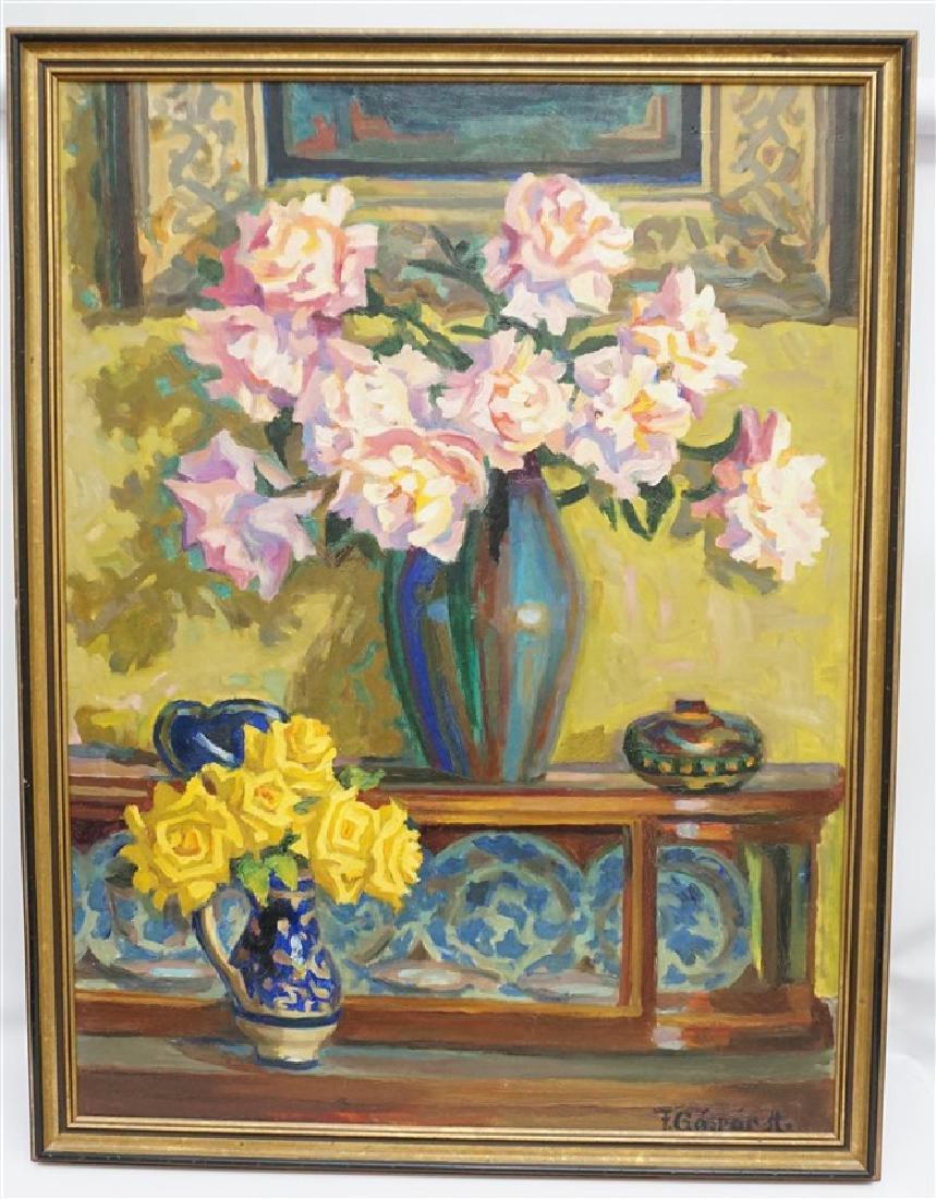 GASPAR ANNI FELEKINE (1902-1992) OIL STILL LIFE