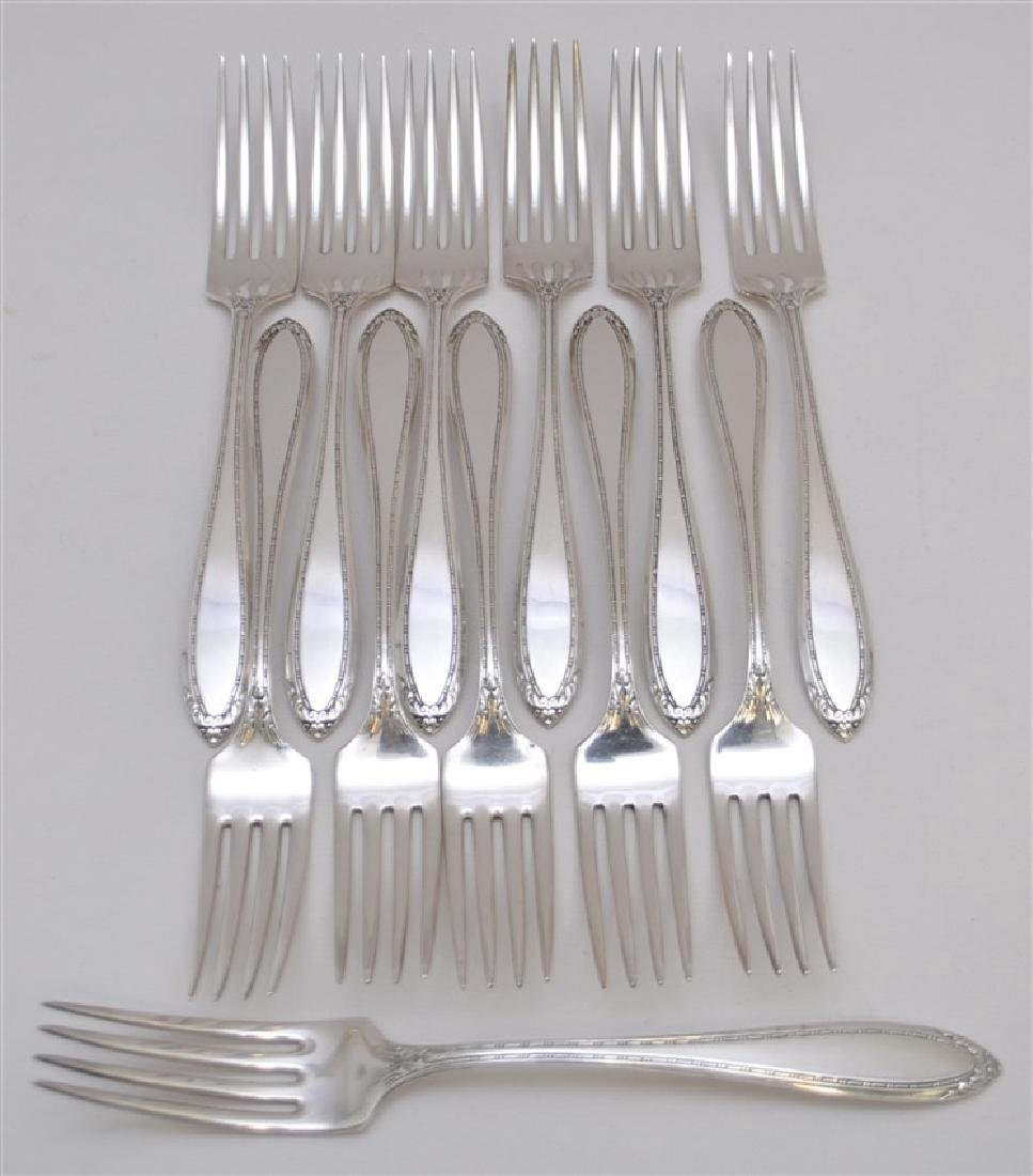 12 STERLING SILVER DINNER FORKS - LADY BETTY