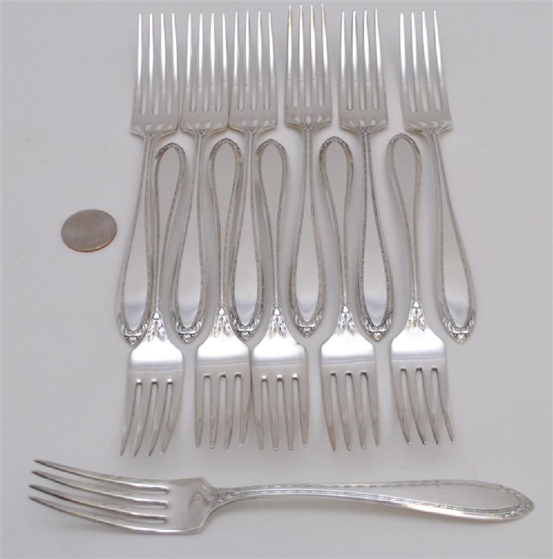 12 STERLING SILVER DINNER FORKS - LADY BETTY - 6