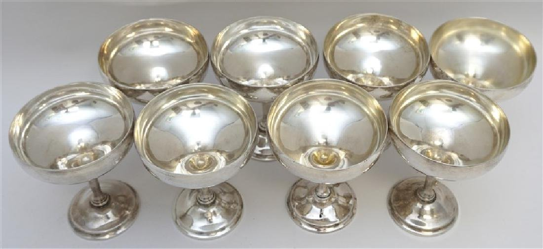 8 WHITING STERLING CHAMPAGNE COUPES - 5