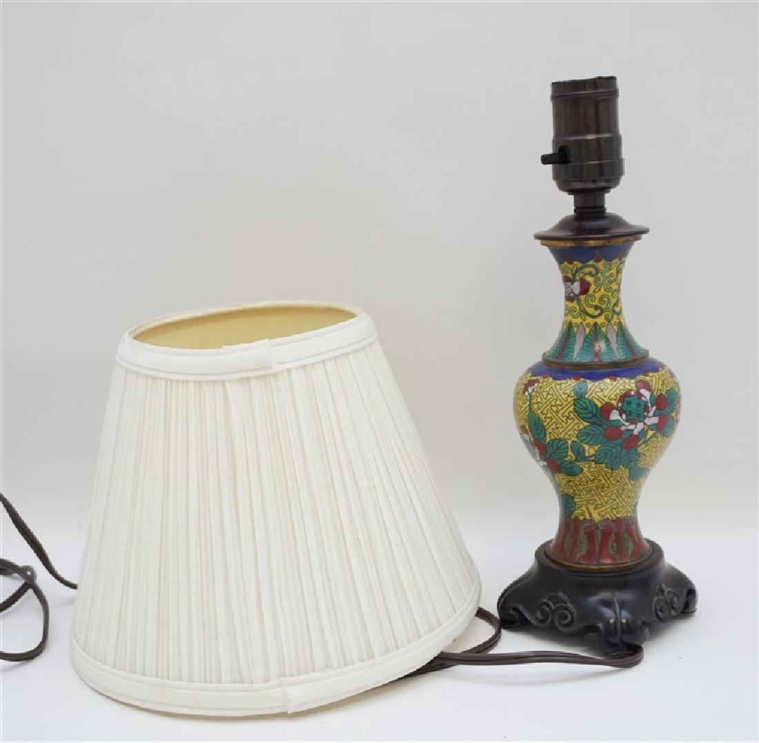 CHINESE CLOISONNE BRONZE LAMP - 7