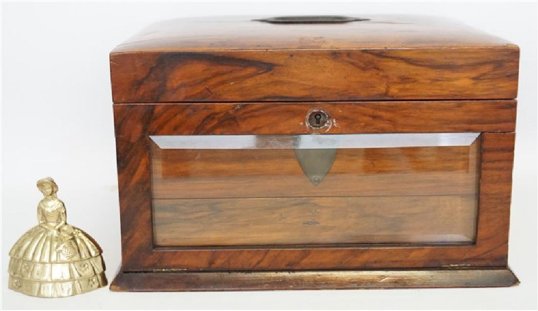 ENGLISH VICTORIAN WOOD JEWELRY BOX - 10