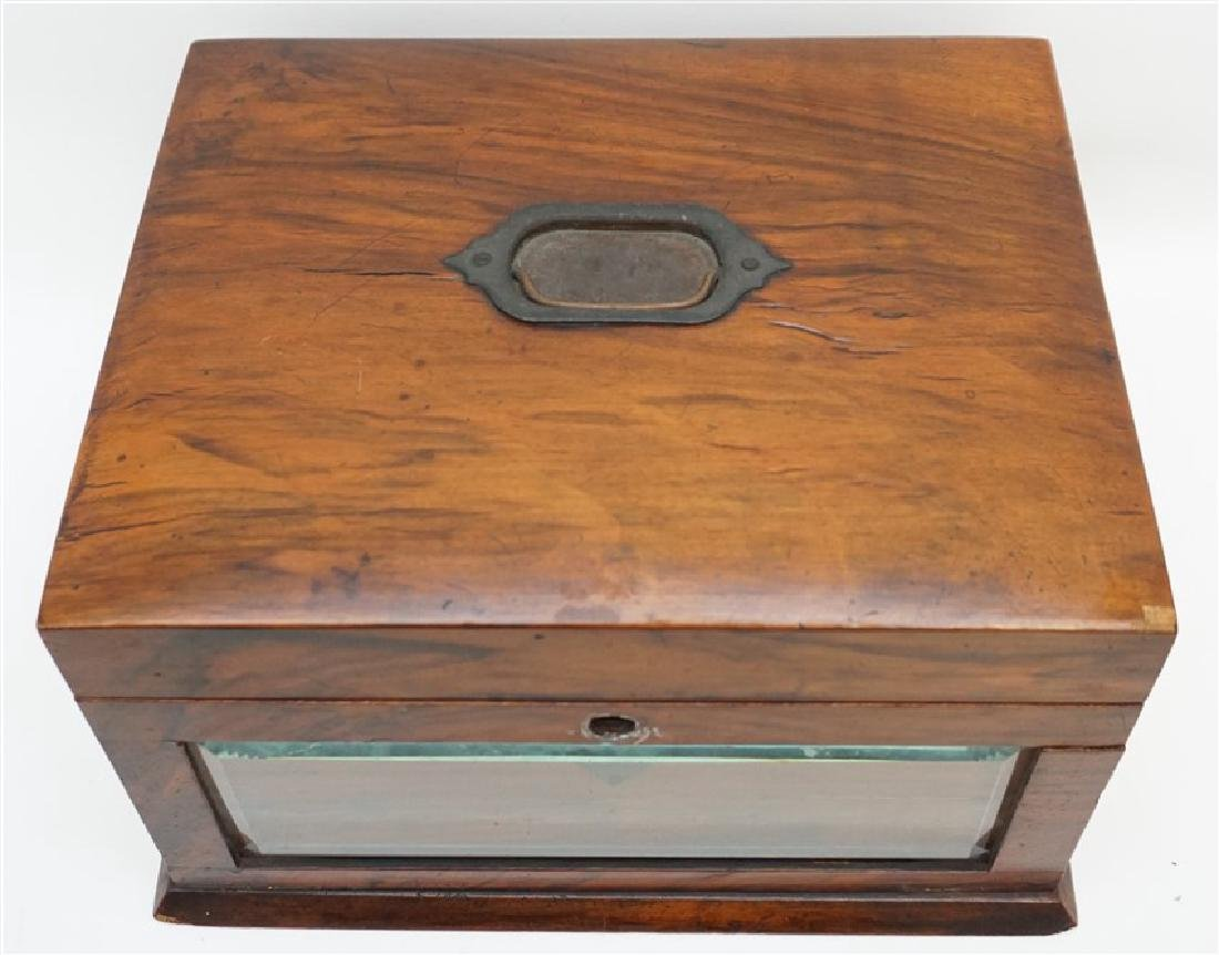 ENGLISH VICTORIAN WOOD JEWELRY BOX - 2