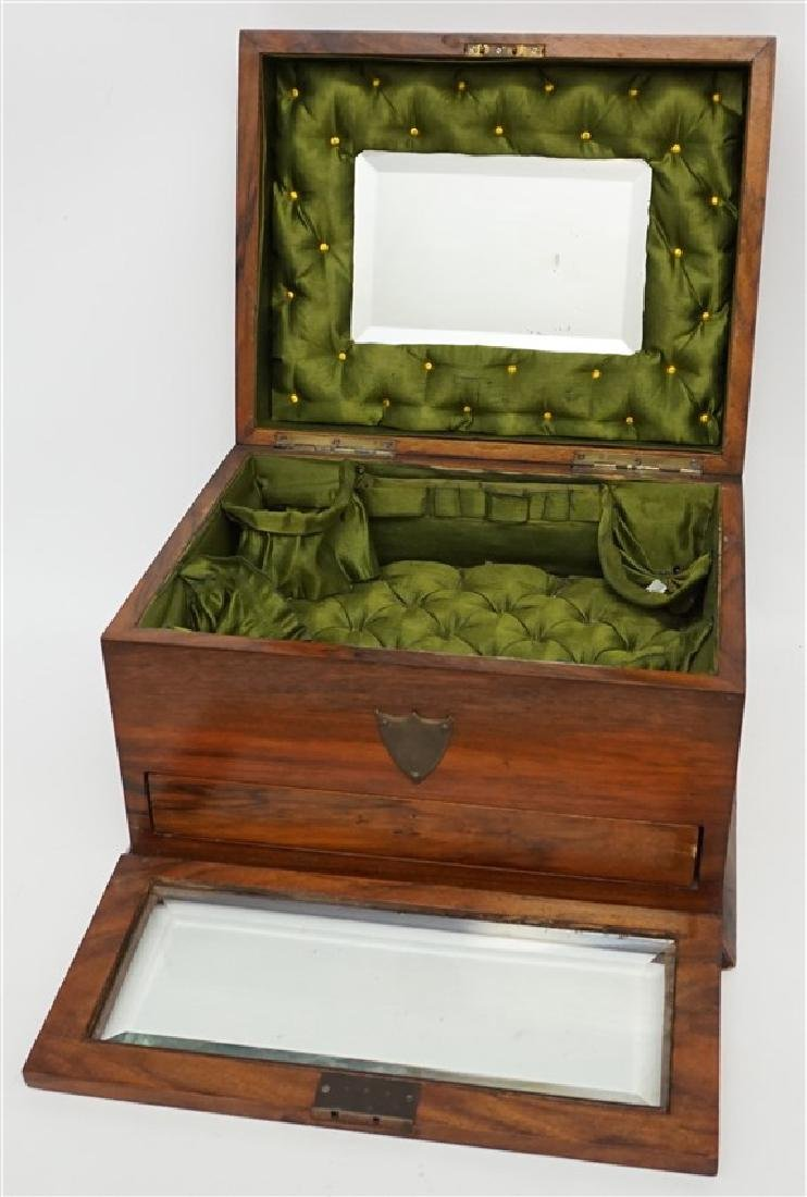 ENGLISH VICTORIAN WOOD JEWELRY BOX - 3