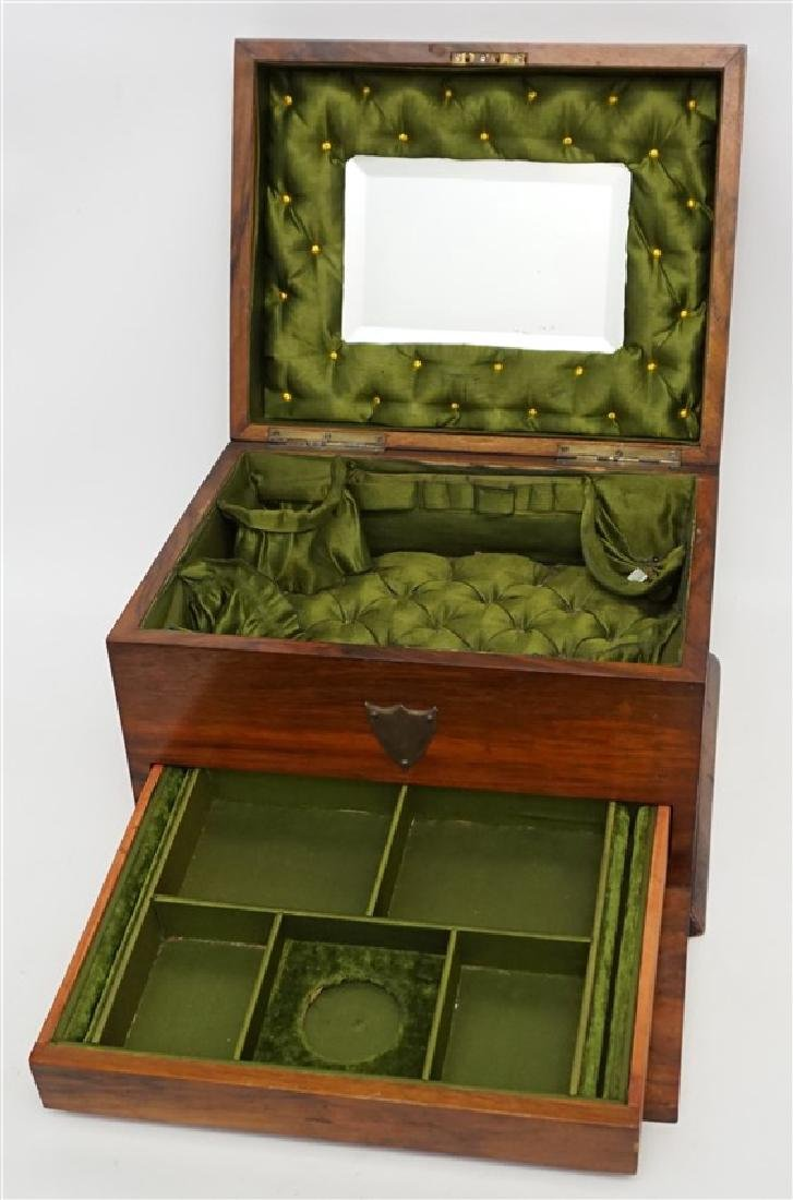 ENGLISH VICTORIAN WOOD JEWELRY BOX - 5