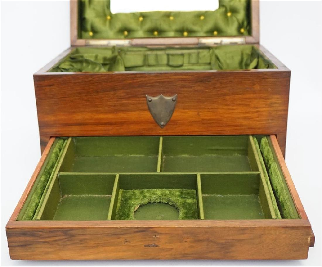 ENGLISH VICTORIAN WOOD JEWELRY BOX - 7