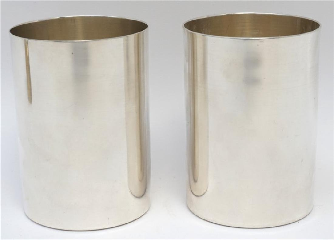 2 HEAVY STERLING SILVER JULEP CUPS