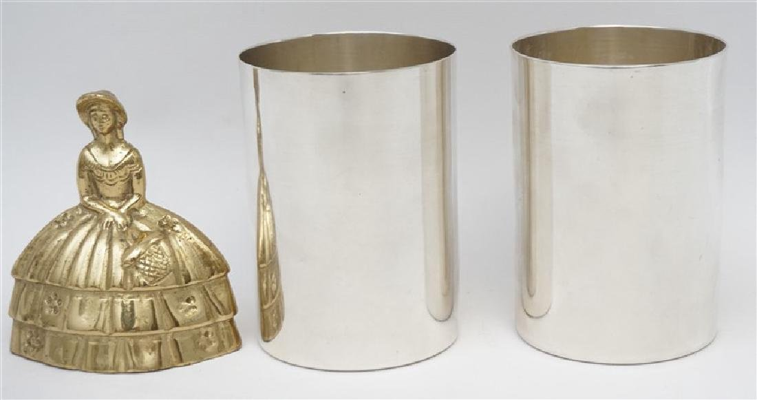 2 HEAVY STERLING SILVER JULEP CUPS - 3