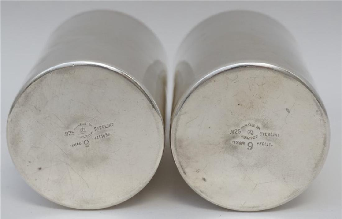 2 HEAVY STERLING SILVER JULEP CUPS - 4