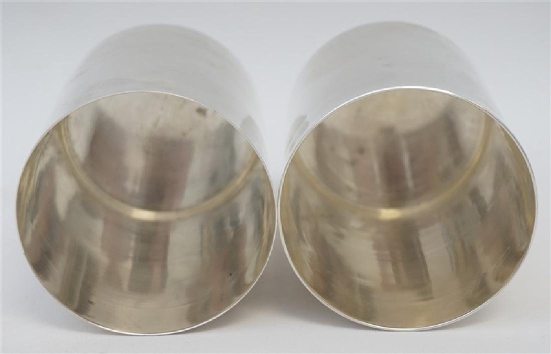 2 HEAVY STERLING SILVER JULEP CUPS - 5