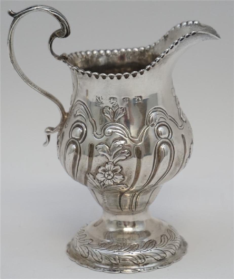 1868 ENGLISH STERLING ORNATE CREAMER - 5