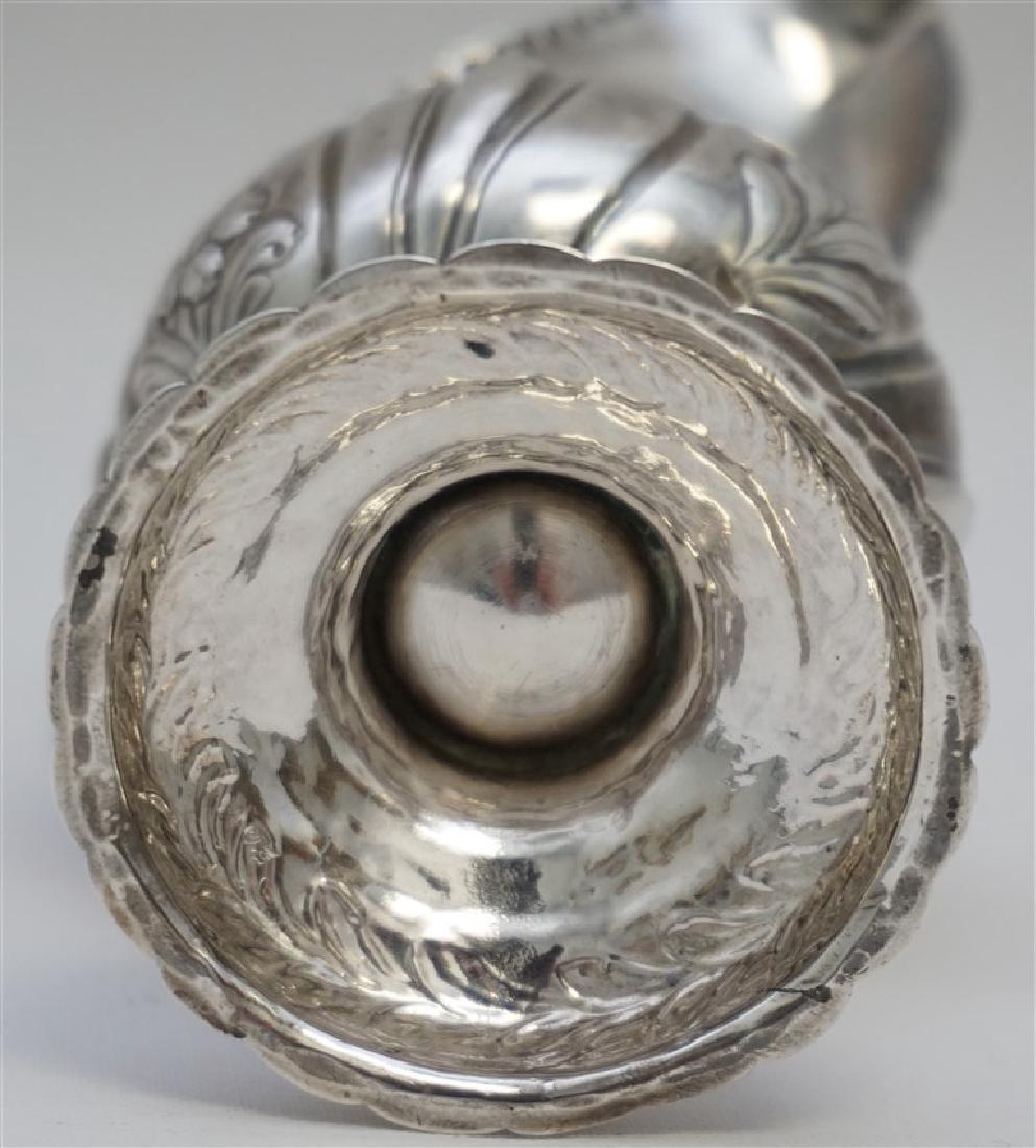 1868 ENGLISH STERLING ORNATE CREAMER - 8