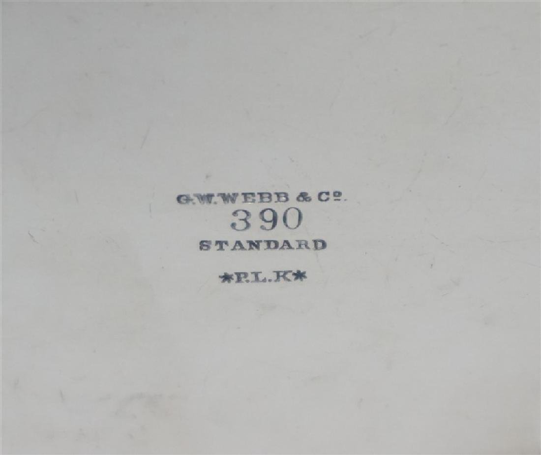 GEORGE W WEBB BALTIMORE SILVER BEE BOWL - 11
