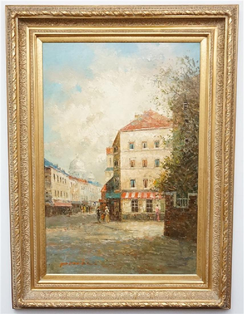 T E PENCKE (b. 1929) PARIS STREET OIL