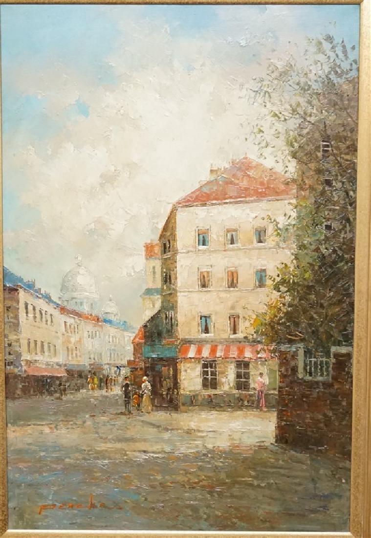 T E PENCKE (b. 1929) PARIS STREET OIL - 2