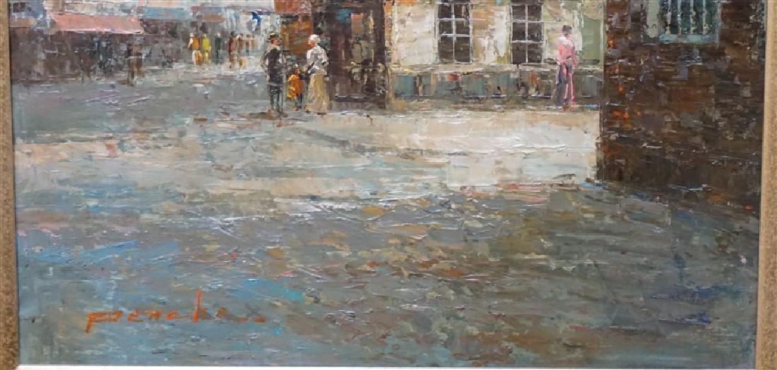 T E PENCKE (b. 1929) PARIS STREET OIL - 4