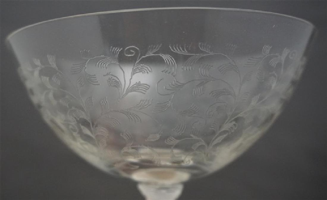 6 CALDWELL STERLING ETCHED CRYSTAL DESSERTS - 7
