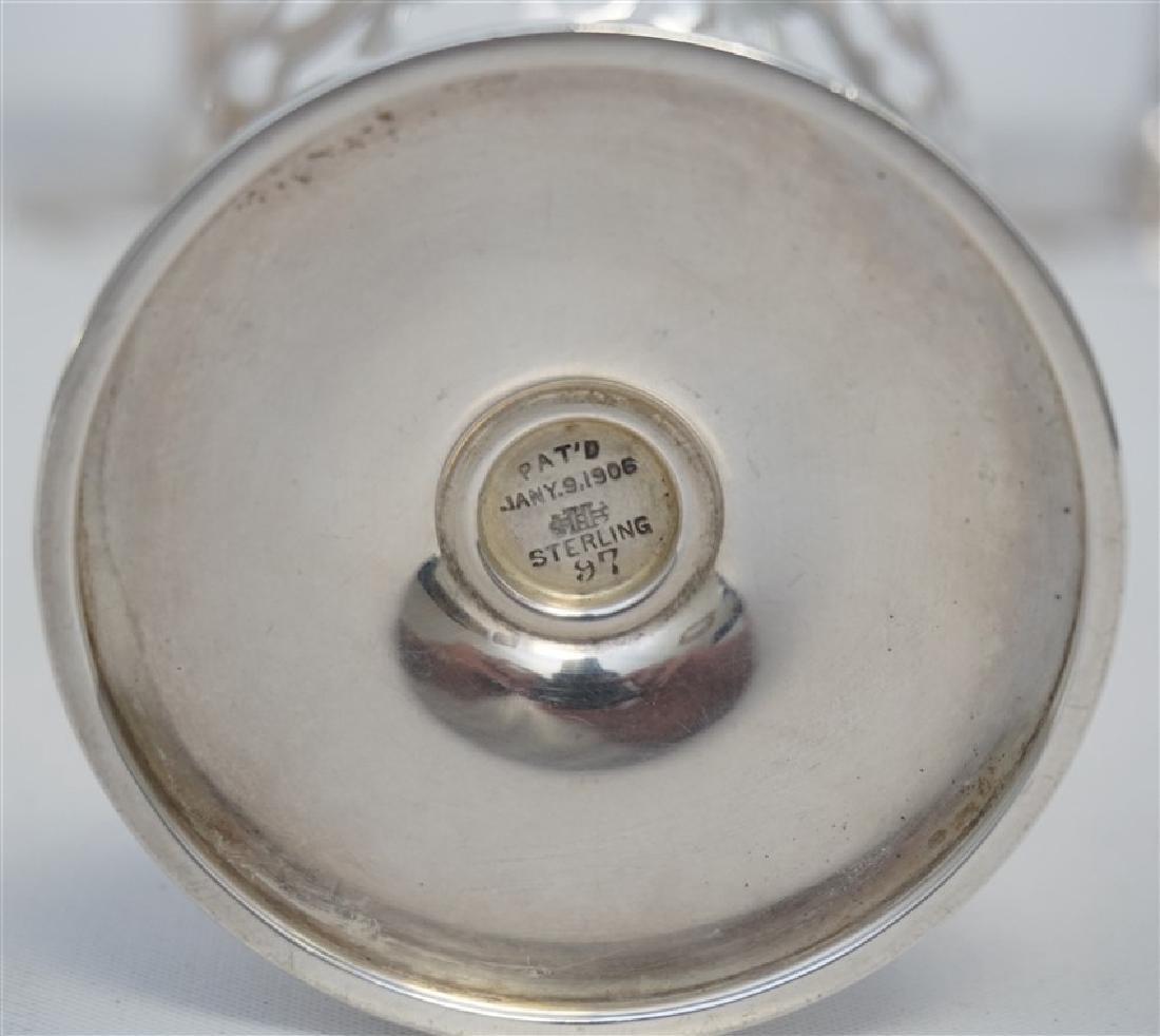 6 HENCKEL STERLING SHERBETS 1906 - 7