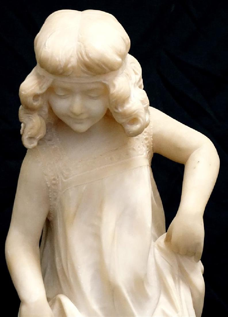 19th CENTURY ALABASTER SCULPTURE YOUNG GIRL - 2