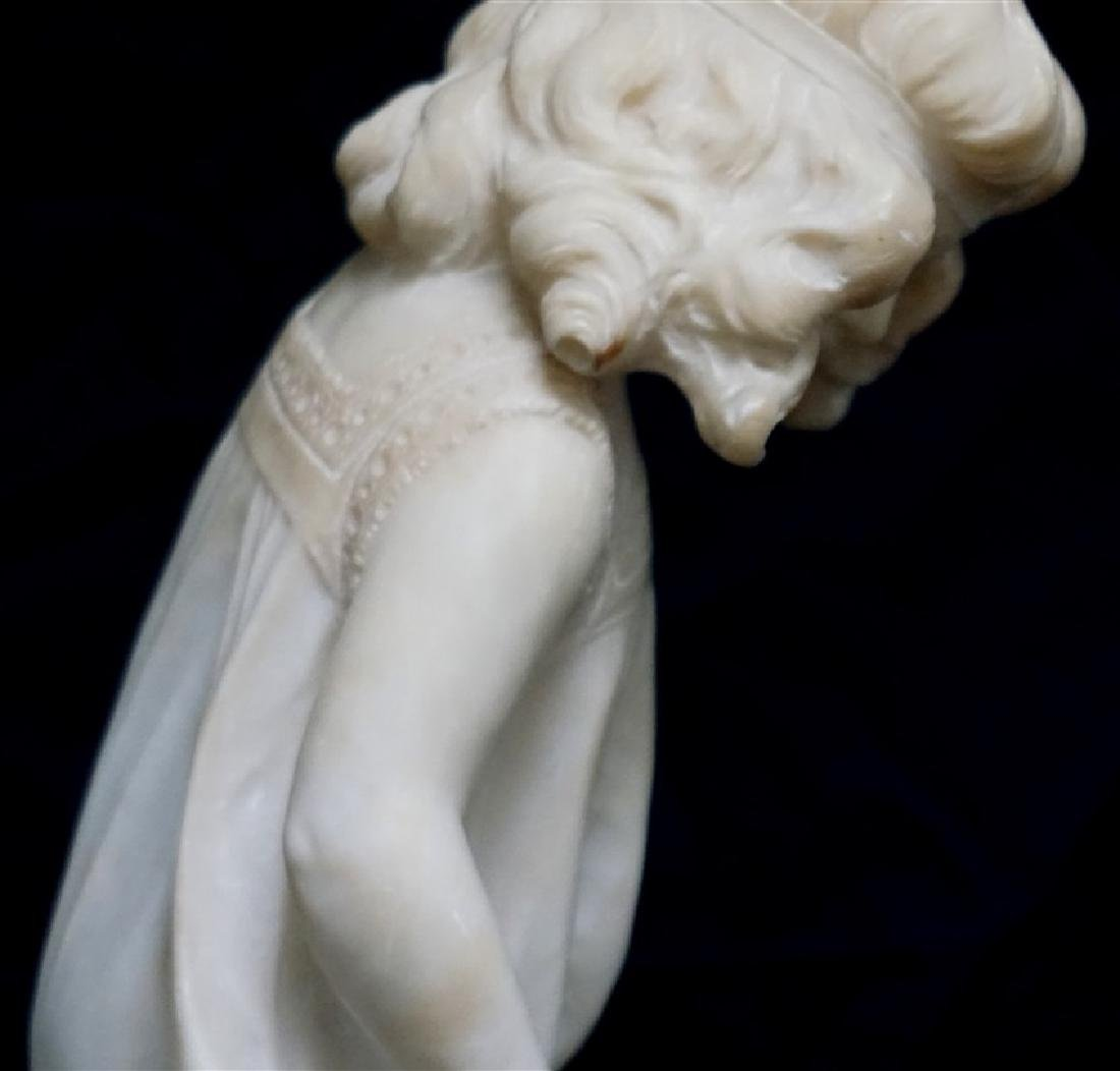 19th CENTURY ALABASTER SCULPTURE YOUNG GIRL - 5