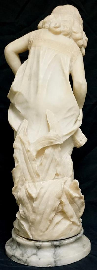 19th CENTURY ALABASTER SCULPTURE YOUNG GIRL - 6