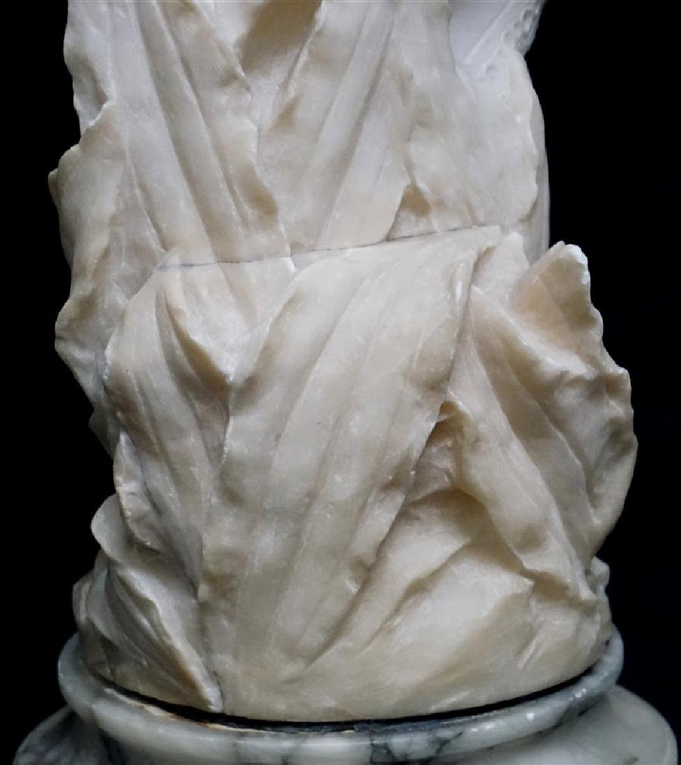 19th CENTURY ALABASTER SCULPTURE YOUNG GIRL - 7