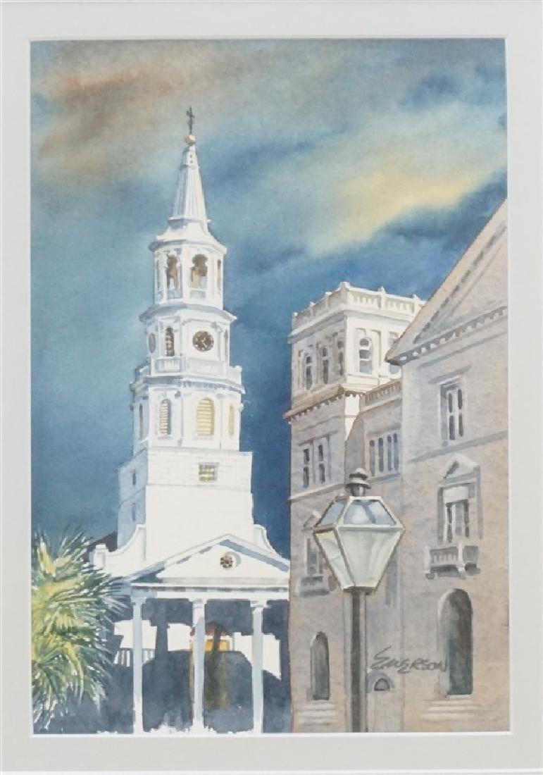 ORIGINAL WATERCOLOR ST. MICHAELS CHURCH - 2