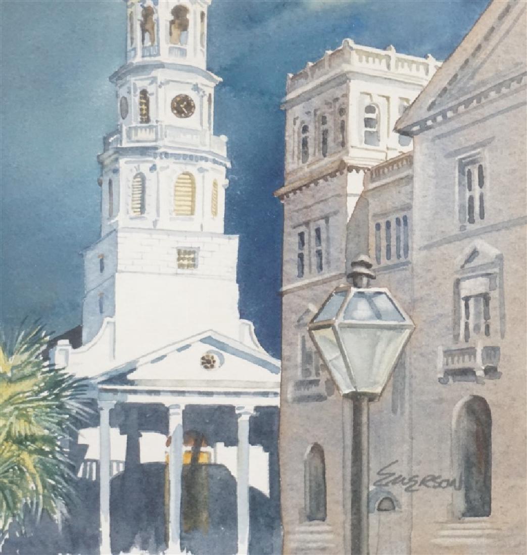 ORIGINAL WATERCOLOR ST. MICHAELS CHURCH - 3