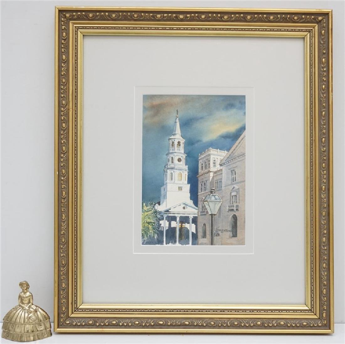 ORIGINAL WATERCOLOR ST. MICHAELS CHURCH - 5