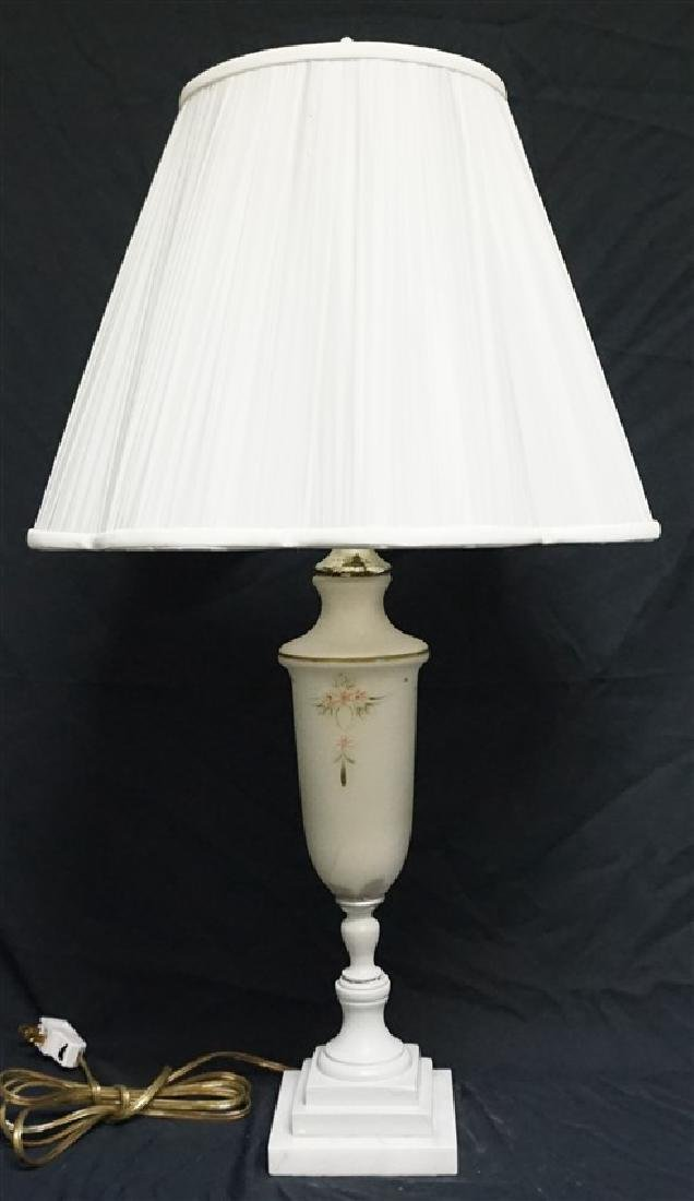 AMERICAN GLASS & MARBLE TABLE LAMP
