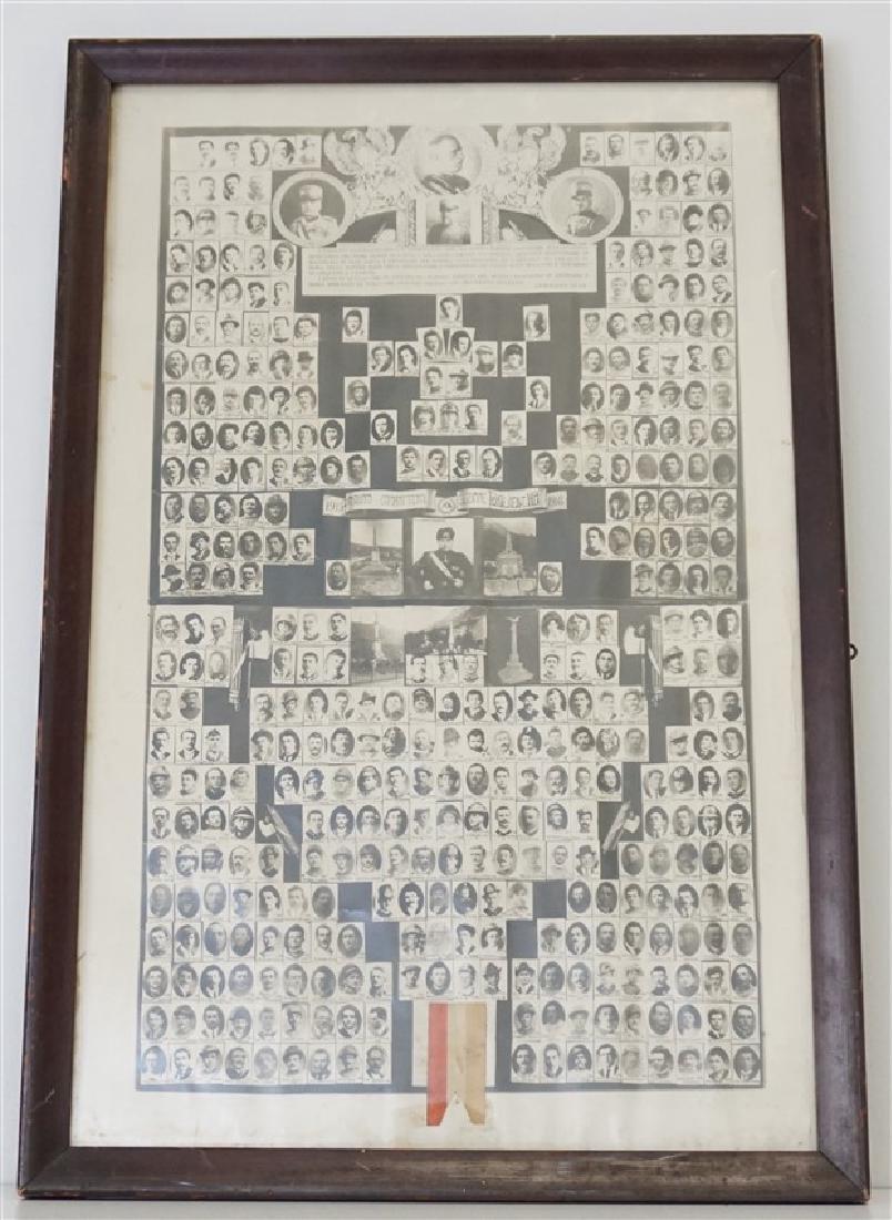 ORIGINAL 1918 ITALIAN MEMORIAL PONTE NELLE ALPI
