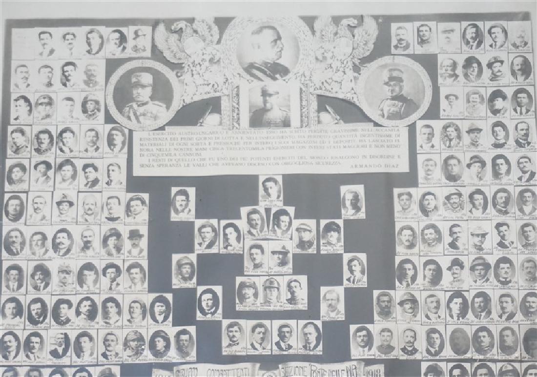 ORIGINAL 1918 ITALIAN MEMORIAL PONTE NELLE ALPI - 5