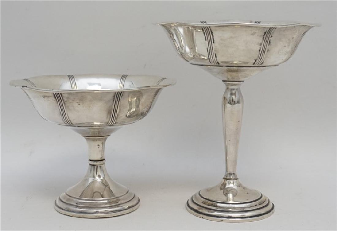 2 STERLING SILVER COMPOTES