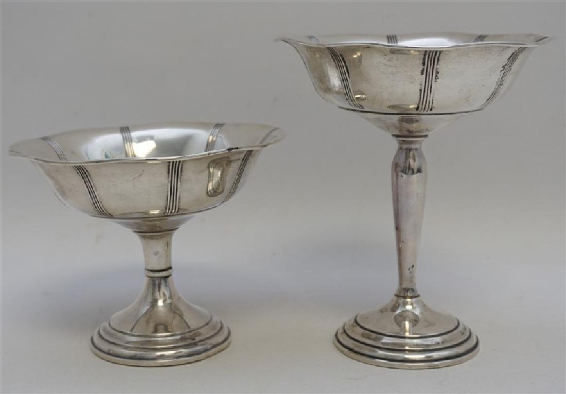 2 STERLING SILVER COMPOTES - 4