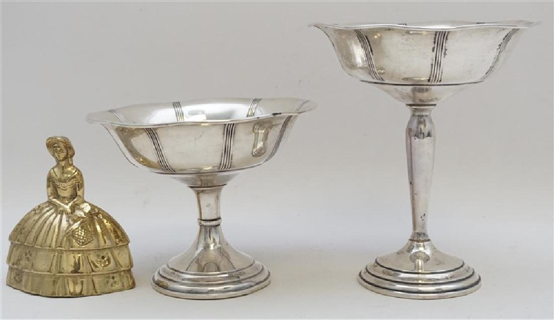 2 STERLING SILVER COMPOTES - 6