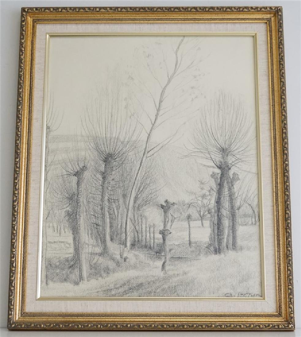 CHARLES STETTLER ORIGINAL DRAWING