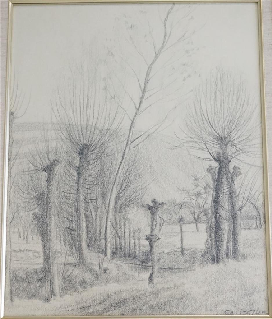 CHARLES STETTLER ORIGINAL DRAWING - 2