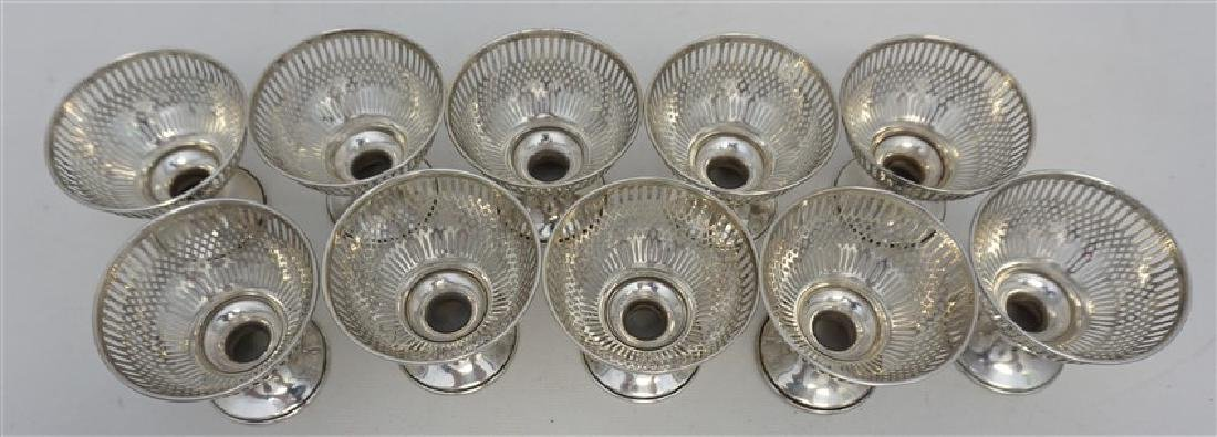 10 STERLING SILVER SHERBET HOLDERS - WHITING - 4