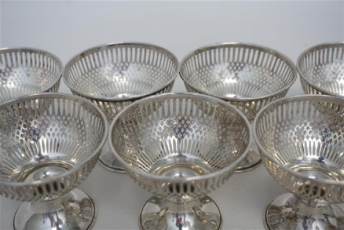 10 STERLING SILVER SHERBET HOLDERS - WHITING - 7