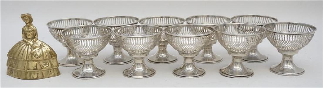 10 STERLING SILVER SHERBET HOLDERS - WHITING - 8